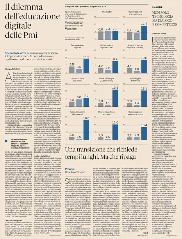 Caso BertO - Il Sole 24 Ore articolo Stefano Micelli