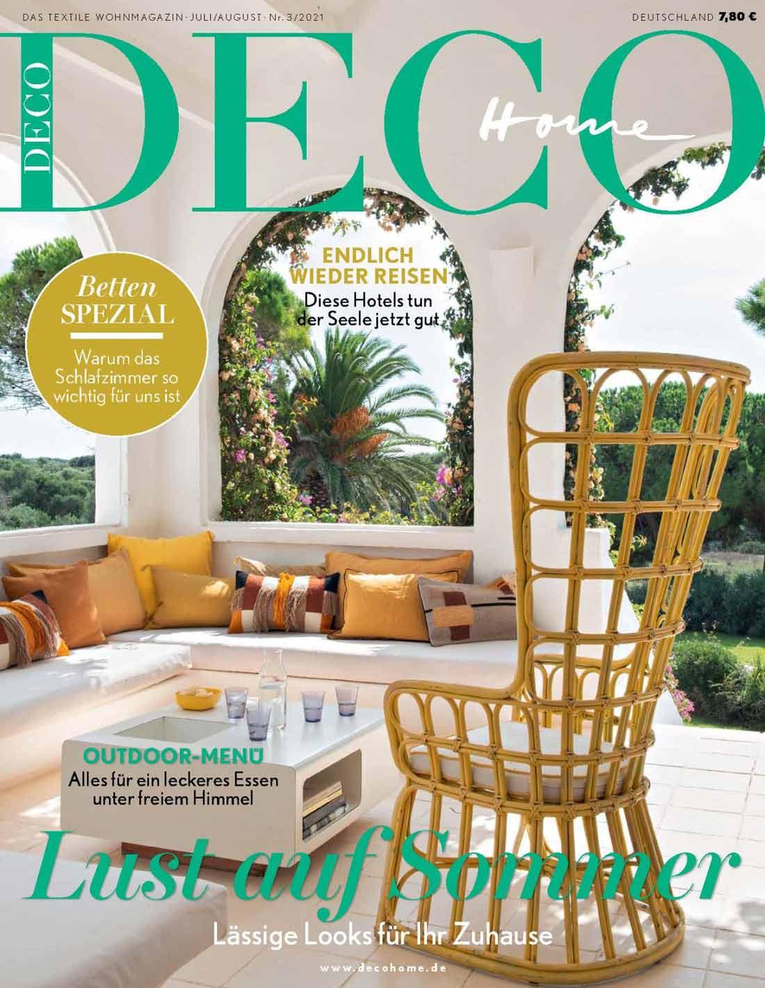 German interior design magazine cover DECO home