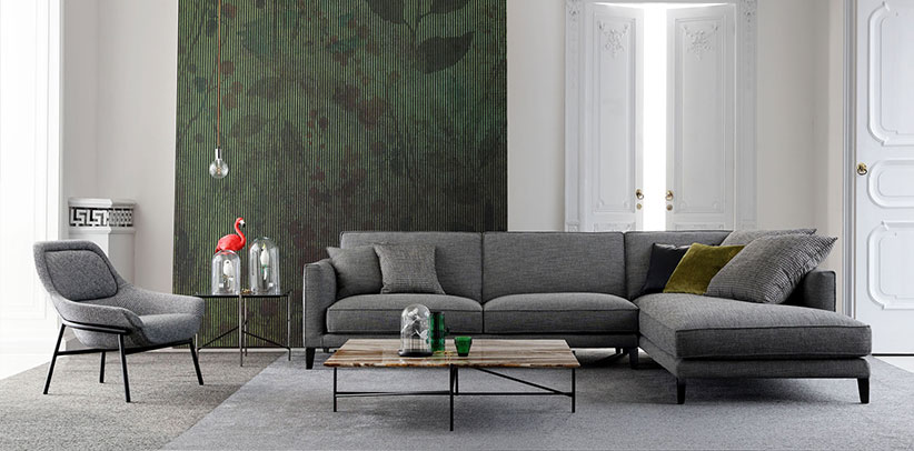 divano Time Break componibile in tessuto rivista i arredamento living corriere della sera novembre 2018