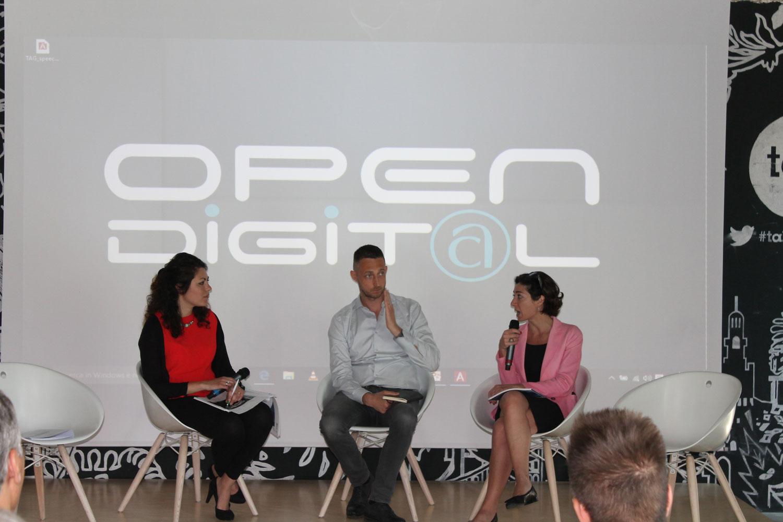 Filippo Berto e Cristina Tajani open digital talent garden