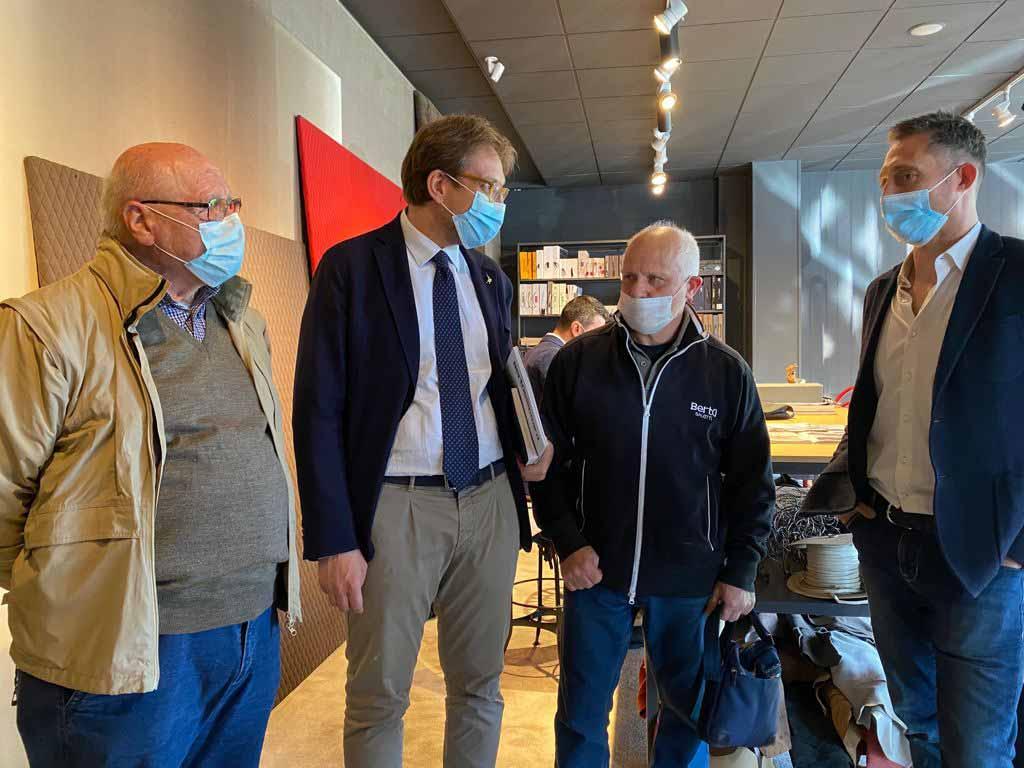 Filippo Berto, Giorgio Berto e Flavio Cairoli incontrano l'Assessore di Regione Lombardia Guidesi