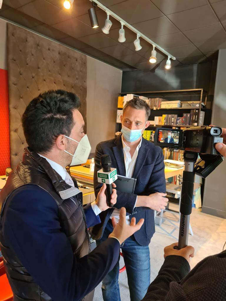 Filippo Berto presenta l'azienda all'Assessore di Regione Lombardia Guidesi