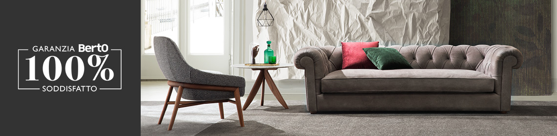 Garanzia 100% Soddisfatto BertO per il tuo divano Kensington