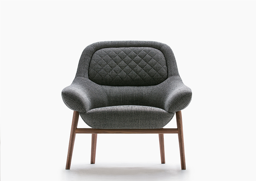 hanna armchair with solid wooden frame