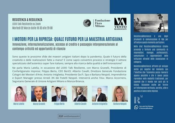 Filippo Berto è ospite del LXXXI talk di Resistenza & Resilienza