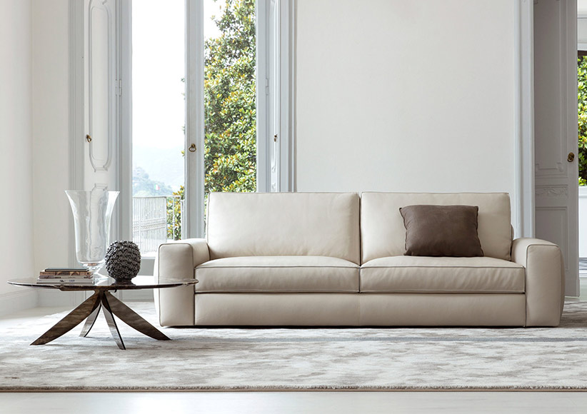 Joey modern leather sofa