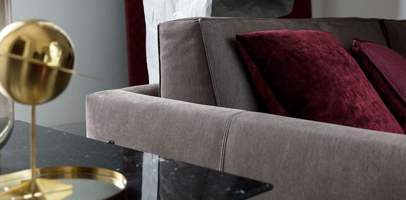 profilo divano pelle nabuk idrorepellente berto salotti