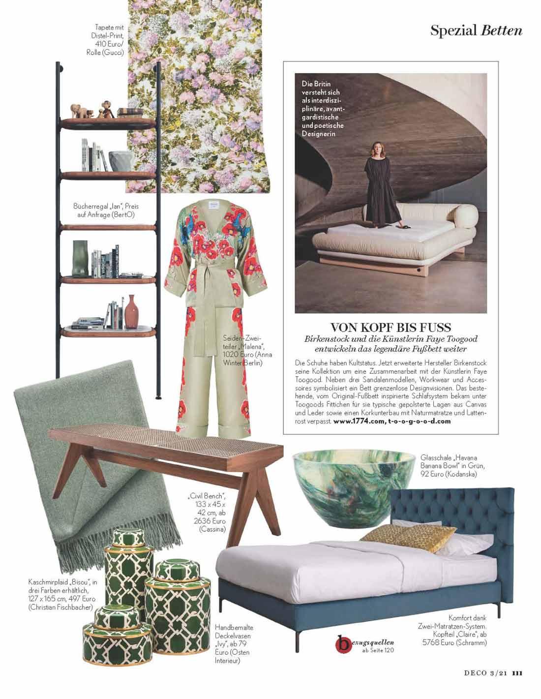 The Ian bookcase in the interior design magazine DECO home