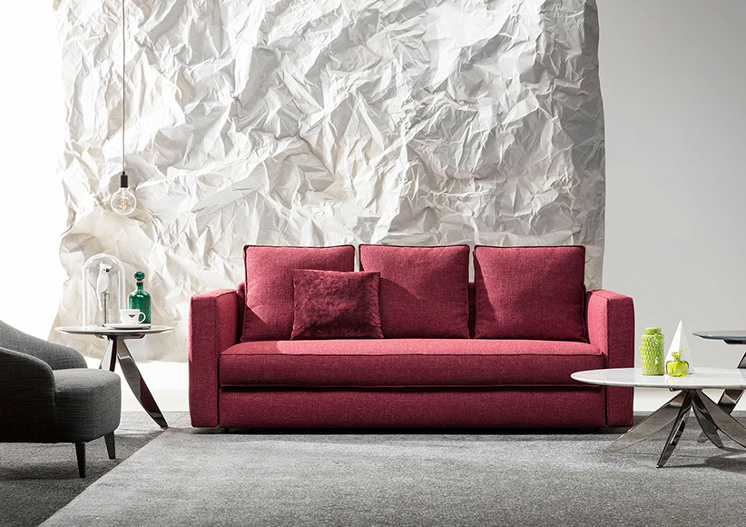 sofá cama robinson rojo coleccion berto salotti 2018