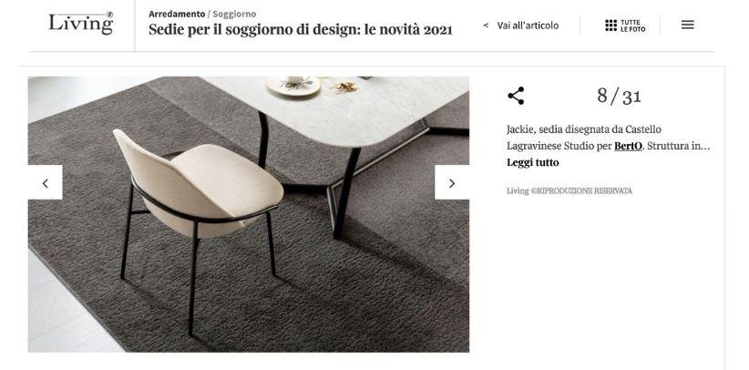 Стул Jeckie работы Берто в галерее Living Corriere della Sera