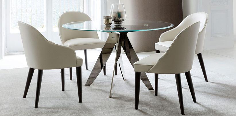 arreda la sala da pranzo con le sedie judy e i tavoli ring