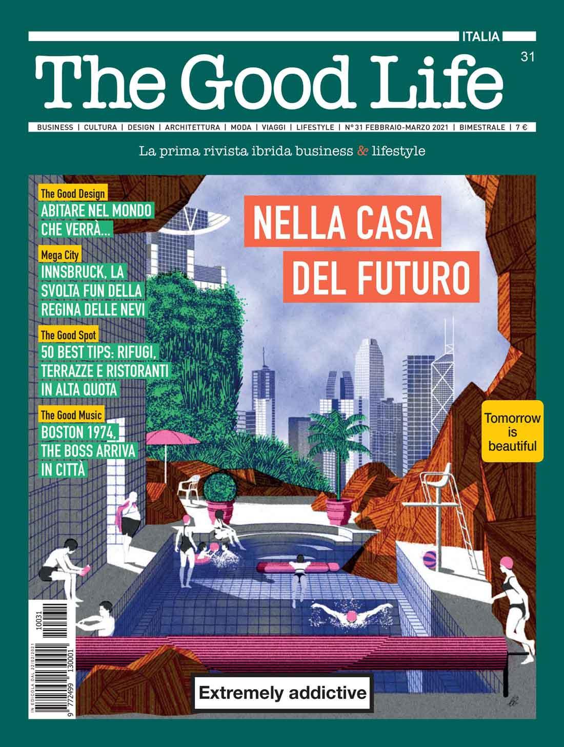 La couverture du magazine Good Life Février 2021