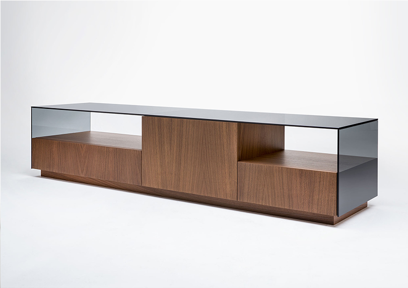 mike tv cabinet with glass top