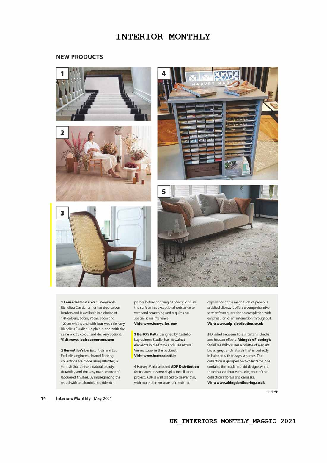 Fauteuil Patti - Gallery Interiors Monthly Mai 2021